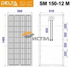 Солнечная панель (модуль) Delta SM 150-12 M (12В / 150Вт)