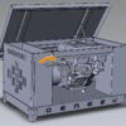 Газовый генератор Genese Standard 6250 Neva в кожухе.