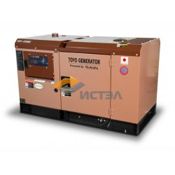 Дизельный генератор TOYO TKV-15SBS (Япония) в шумозащитном кожухе